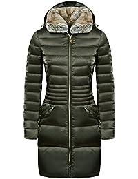 Peuterey Coat Donna in Nylon Cangiante Wave Fur PED0952 col. Verde Oliva tg. 48