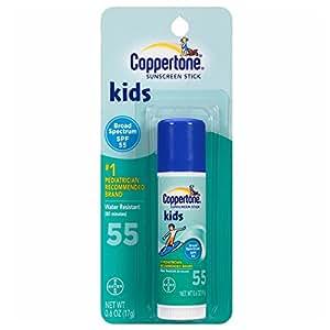 Coppertone Spf#55 Kids Sunscreen Stick 0.6 Ounce (17ml) (3 Pack)