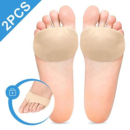 Doact Metatarsalgie Pad Mittelfußpolster Fußpolster Ballen Vorfußpolster Fußpads für Mittelfußknochen, Mittelfußknochenschoner, bei Schmerzen im Vorderfußbereich, Morton-Neuroma und Plantarwarten -