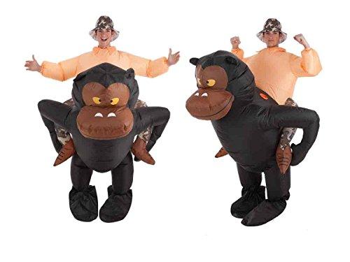 Creaciones Llopis- Disfraz Adulto Hinchable Gorila y Aventurero, (9464)