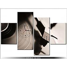 Art Gallery XXL-120 X 80 CM, diseño de disco de vinilo, música-Reloj de pared de pizarra-DECO-NEW DESIGN moderno