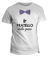 Idea Regalo - fashwork Tshirt Fratello dello Sposo - Addio al Celibato - in Cotone by