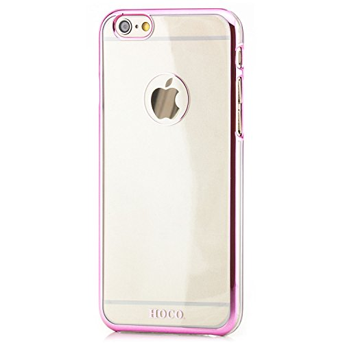 Hoco. Apple iPhone 6 / 6S Hülle Slim Case Cover Hardcase Schutzhülle   Pink Pink Transparent