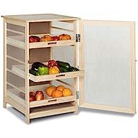 IDMarket - Légumier fruitier en bois VEGGE avec 3 tiroirs amovibles