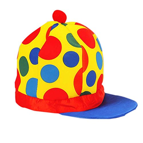 Halloween-Hut Clown Hut Clown Cap Clown Zylinderhut-Partei-Kostüm Karneval Cap