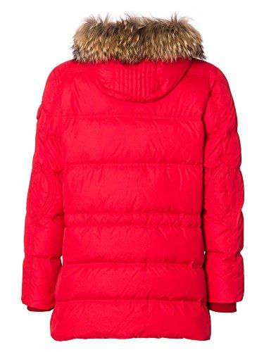 STRENESSE Messieurs Blouson doudoune Fourrure de raton laveur Collection d'hiver Rouge