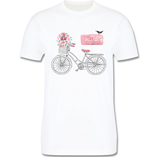 Vintage - Fahrrad Take a ride Watercolour - Herren Premium T-Shirt Weiß