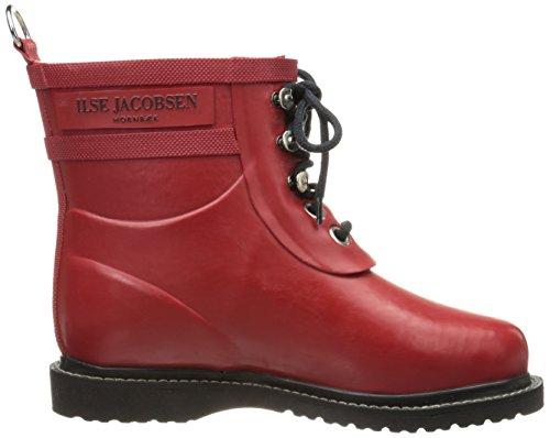 Ilse Jacobsen Short Rubberboot RUB2, Bottes de pluie femme Rouge (TR-B2-Rouge-124)