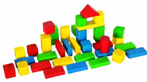 Imagen principal de HEROS 100050151 - Bloques de construcción de madera (50 piezas)