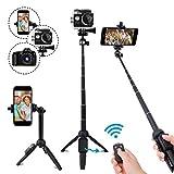 LEXY Perche Selfie Bluetooth, 101,6 cm Extensible Selfie bâton trépied avec...