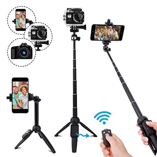 LEXY 101,6cm Selfie Stick Bluetooth, Extensible Selfie bâton trépied avec télécommande sans Fil pour iPhone 678x Plus, Samsung Galaxy S9/, GoPro, appareils Photo numériques