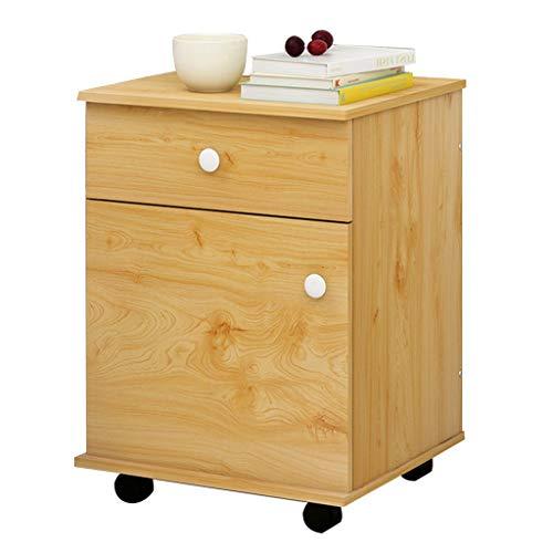 Casier en bois massif chevet armoire casier chambre table de chevet tiroir de rangement armoire de stockage ouvert espace de particules panneau de rangement carton ondulé emballage doit être assemblé