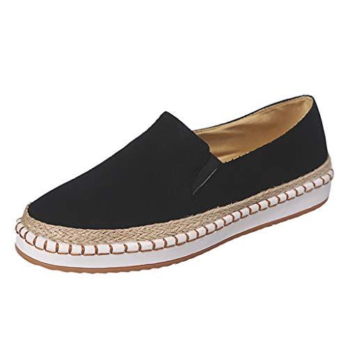 BURFLY Mode Damen Schuhe, Frauen Lässig Solide Leopard Slip On Flach Müßiggänger Schuhe Einzelne Schuhe Freizeitschuhe -
