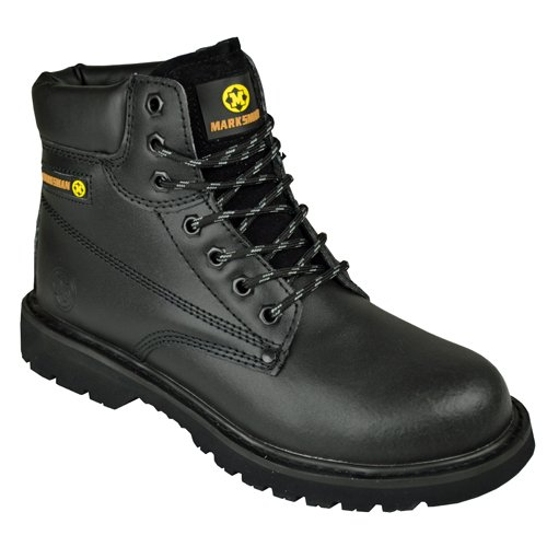BARGAINS-GALORE Mens Safety Trainers Shoes Boots Work Steel Toe Cap Hiker Ankle Black