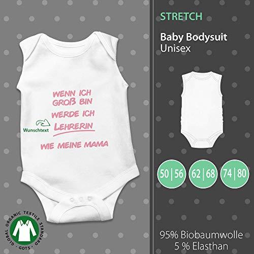 Baby Body Unisex | Wenn ich Groß bin werde ich_ wie Papa/Mama | Wunschtext | individuell | pickNstick