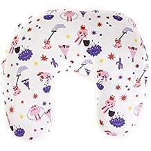 SleepAA Cojin lactancia almohada embarazo algodón con cremallera desenfundable confort ergonómico Tamaño único Varios modelos Fabricado en España