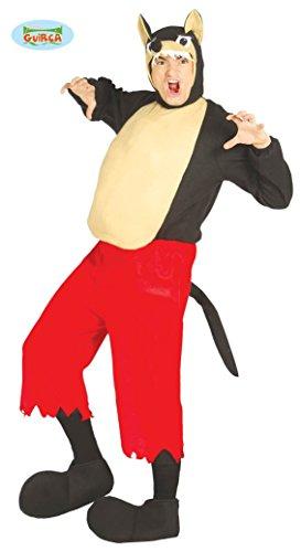 Wolf Kostüm für Erwachsene Gr. M/L, Größe:L