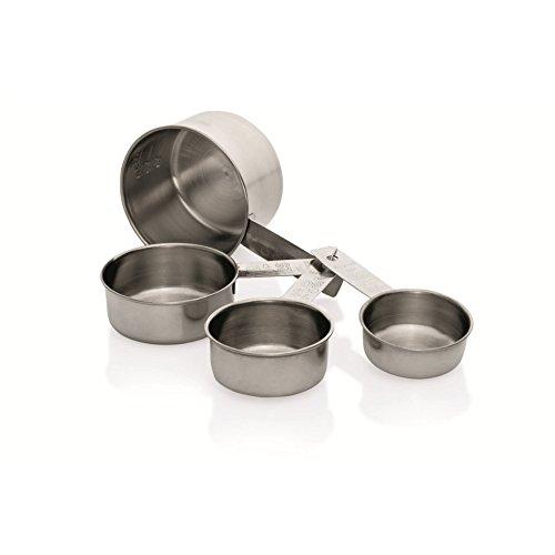 Kerafactum® Messlöffel komplett aus Edelstahl Measuring Cups Messbecher mit festem Griff 250ml 125ml 80 ml 60ml Helfer für Küche Kochen Backen - 4 Stück (Cup-messbecher Vier)