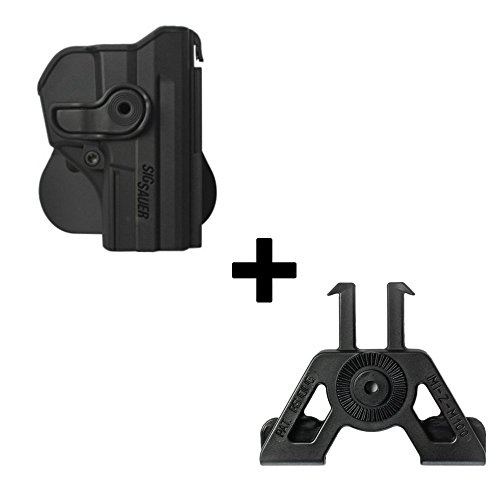 IMI Defense verstellbar drehbar drehung Pistole holster + Molle Adapter Befestigung für Sig Sauer pro SP2022 / SP2009 verdeckte Trage POLYMER Taktik ROTO Pistolenhalfter