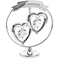 Crystocraft Two Hearts 25th Silver Anniversary