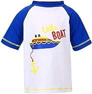 LACOFIA Camiseta de baño de Manga Corta para niños Traje de baño niño con protección Solar UPF 50 + Secado rap