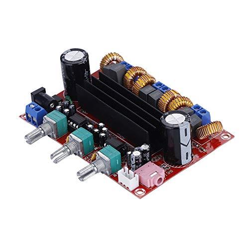 ASHATA Digital Audio Stereo Verstärker, 200W 3 Soundkanäle Digital Verstärker Hi-Fi-Stereo-Sound,Audio Verstärker Amplifier Stereo Board Modul Rauschunterdrückung Endverstärker Board DC12-24V (200 Watt Car-audio-verstärker)