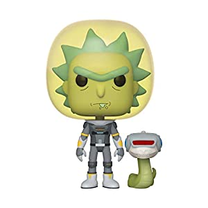 Funko- Pop Animation: Rick & Morty-Space Suit Rick w/Snake and Morty Collectible Toy, Multicolor (45434)