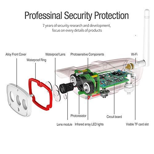 IKVRU Sicherheitskamerasystem Wireless, 1080P Wireless Surveillance System, Easy Remote Home Monitoring Video Home Security Cameras Night Vision und Hard Drive,USregulations Remote-video-monitoring-system
