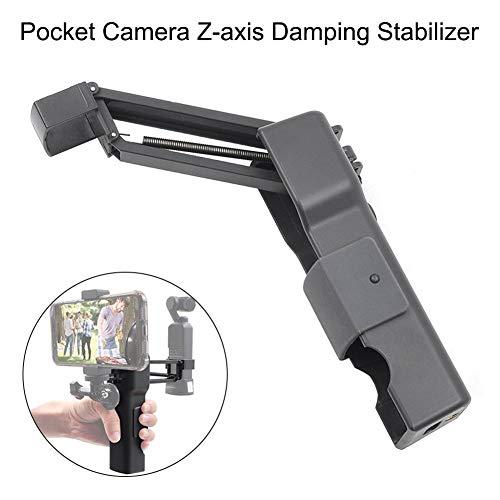 Cherishly Stabilisator für Smartphones und Actionkameras, zusammenklappbarer Z-Achsen-Handstoßdämpfer, 5,71 Zoll x 1,93 Zoll x 1,54 Zoll, für DJI OSMO Pocket Proficient