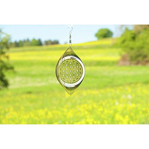 Blume des Lebens ø 15 cm aus Edelstahl mit Kristallen | Wohn-Dekoration Mobile Lebensblume Spirituelles Symbol | Feng Shui Esoterik Geschenke günstig kaufen