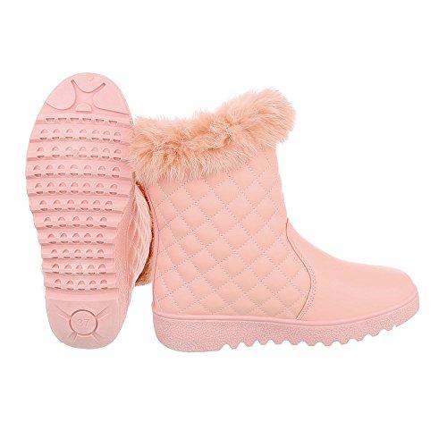 Chaussures femme Bottes et bottines Plat Bottines classiques Ital-Design Rose