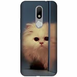 Printland Designer Back Cover For Moto M - Cat Cases Cover