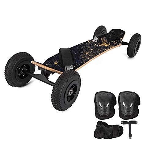 """Ybzx Durable Mountainboard 39\""""All-Terrain-Skateboard Longboard Offroad-Skateboard mit Bindungen zum Cruisen, Freestyle-Downhill und Tanzen"""