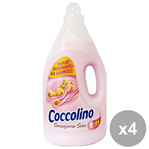 Set 4 COCCOLINO Ammorbidente 4 Lt ROSA SENSAZIONE Seta Detergenti Casa