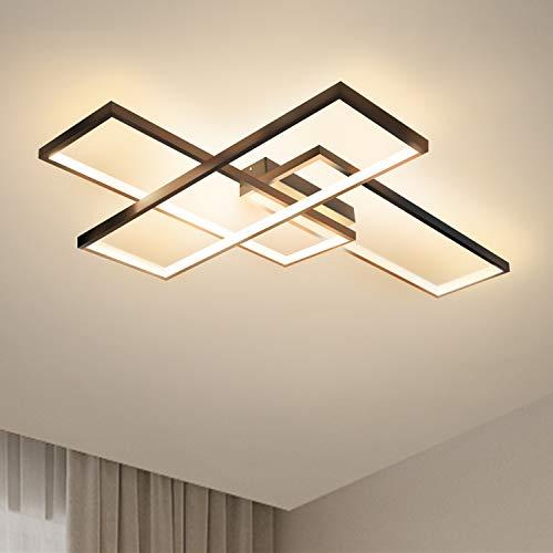 GBLY LED Deckenleuchte Modern Warmweiß Deckenlampe Geometrisch Wandlampe Schwarz Multifunktional Deckenbeleuchtung für Wohnzimmer, Schlafzimmer, Flur und Balkon