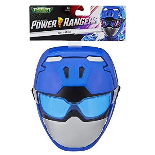 Kostüm Ranger Ninja Power - Power Rangers E5926ES0 Beast Morphers Blauer Ranger, Maske für Rollenspiele