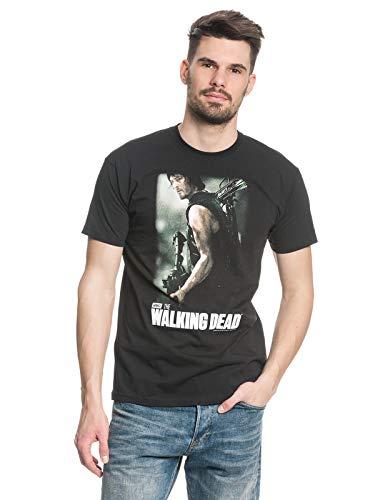 Unbekannt Daryl Dixon-T-Shirt The Walking Dead Lizenzprodukt schwarz-bunt ()