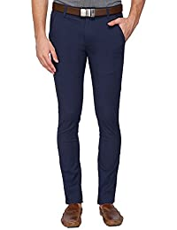 STOP By Shoppers Stop Mens 4 Pocket Solid Chinos