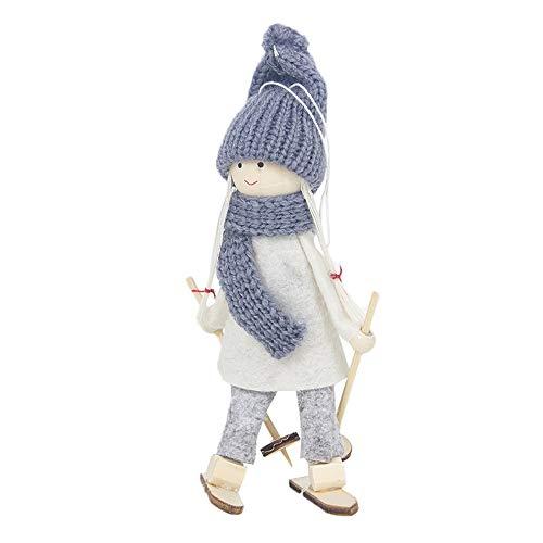 Berrose Kreativ Weihnachtsfigur Anhänger Weihnachtsdekoration Lieferungen Kreative Kawaii Weihnachtspuppe Weihnachtsbaum Dekoration-bruchsicher Weihnachtskugeln Weihnachtsbaumschmuck Dekorationen