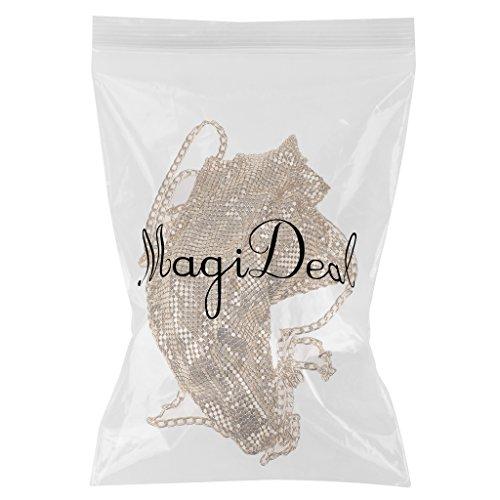 MagiDeal Donna Canotte Top T-shirt Magliette Gilet da Spiaggia Estate Oro