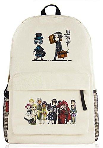 yoyoshome Black Butler Anime Kuroshitsuji Cosplay Messenger Bag Rucksack Schule Tasche beige Black ()