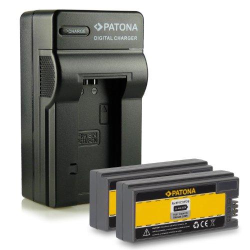 4in1 Ladegerät mit 2x Akku NP-FC10   NP-FC11 für Sony CyberShot DSC-P2, P3, P5, P7, P8, P9, P10, P12, V1, F77, FX77 und weitere... Dsc-v1 Cyber-shot