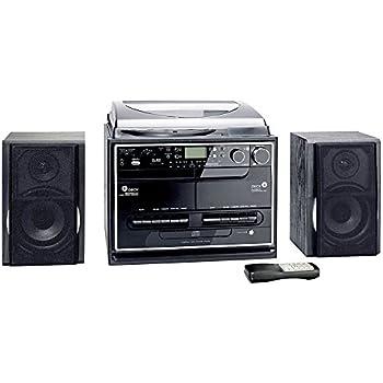 kompaktanlage mit plattenspieler radio kassette cd usb elektronik. Black Bedroom Furniture Sets. Home Design Ideas