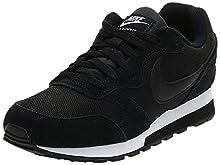 Nike MD Runner 2, Scarpe da Running Donna, Nero (Black/Black-White), 37.5 EU