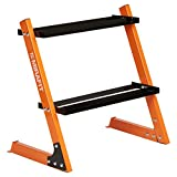 MiraFit Kurzhantel-Regal 150 kg mit 2 Böden – Orange