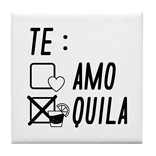 CafePress Te Amote Quila Fliesenuntersetzer, Untersetzer, Kleiner Untersetzer -