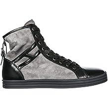 294e0895dba30 Hogan Rebel Sneakers Alte R182 Donna Nero Piombo .