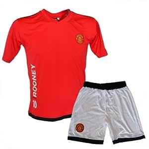 Ensemble Maillot et Short Manchester United Nani 17 Home JR Rouge-Blanc T:8 ans