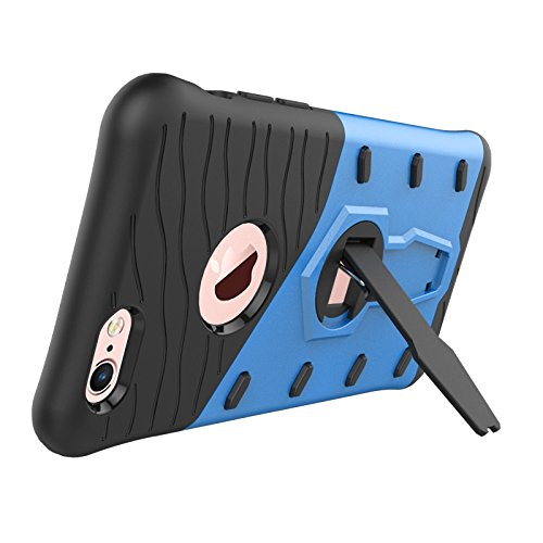 iPhone Case Cover 2 in 1 Neue Rüstung Tough Style Hybrid Dual Layer Armor Defender PC Hartschalen mit Ständer Shockproof Case für das iPhone 6 6s ( Color : Blue , Size : Iphone 6 6s ) Blue