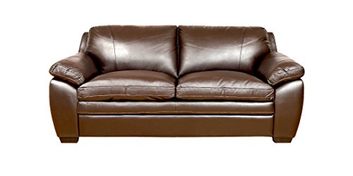 Amey 3 Seater Sofa in Brown PVC